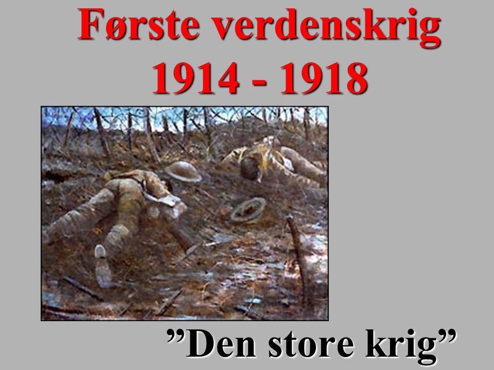 Første verdenskrig 1914 - 1918 Den store krig