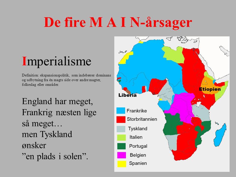 De fire M A I N-årsager Imperialisme