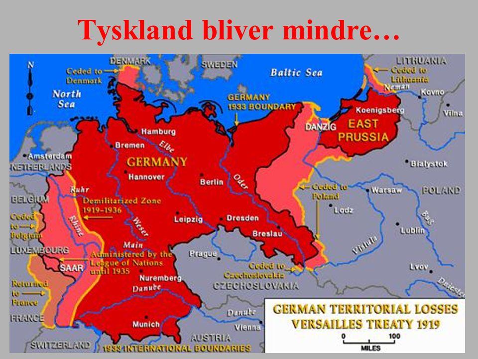 Tyskland bliver mindre…