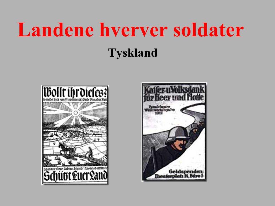 Landene hverver soldater