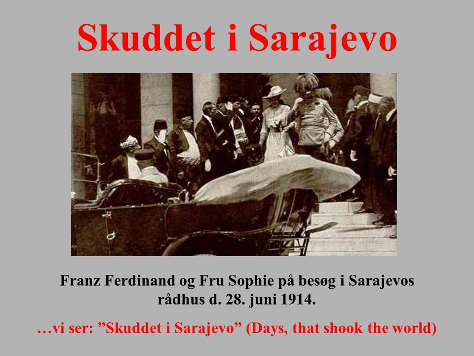 …vi ser: Skuddet i Sarajevo (Days, that shook the world)