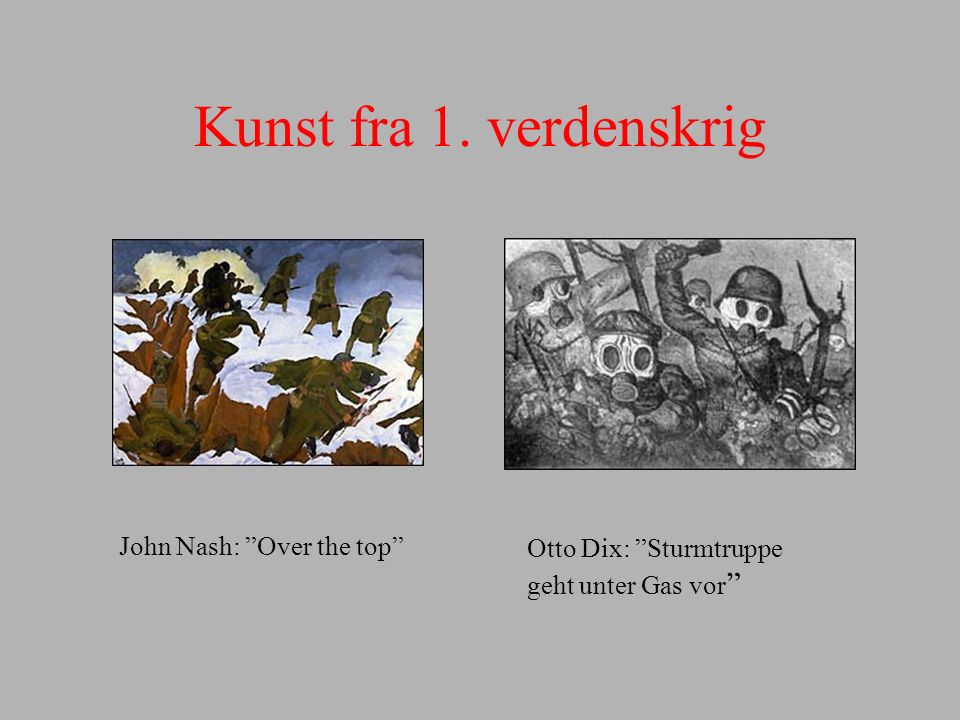 Kunst fra 1. verdenskrig John Nash: Over the top