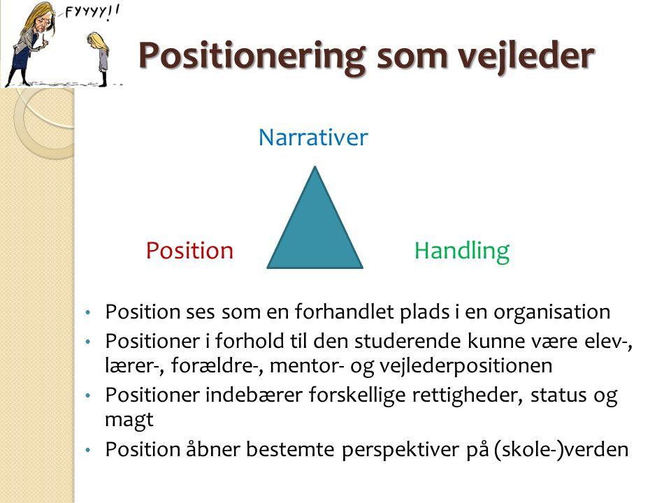 Positionering som vejleder