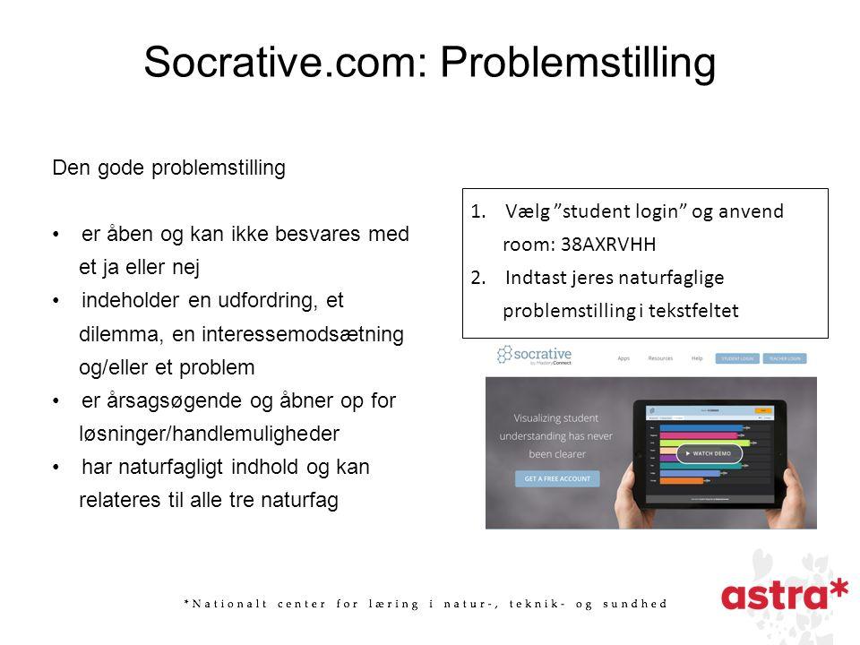 Socrative.com: Problemstilling