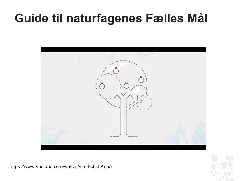 Guide til naturfagenes Fælles Mål