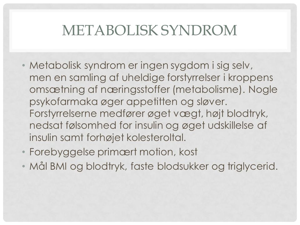 Metabolisk syndrom
