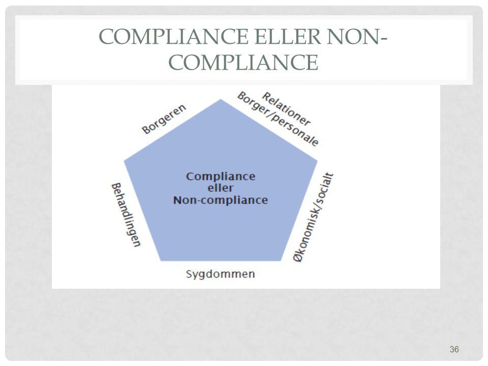 Compliance eller non-compliance