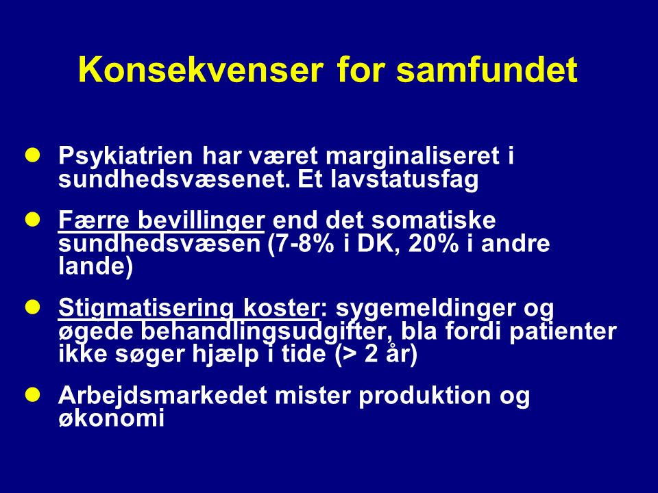 Konsekvenser for samfundet