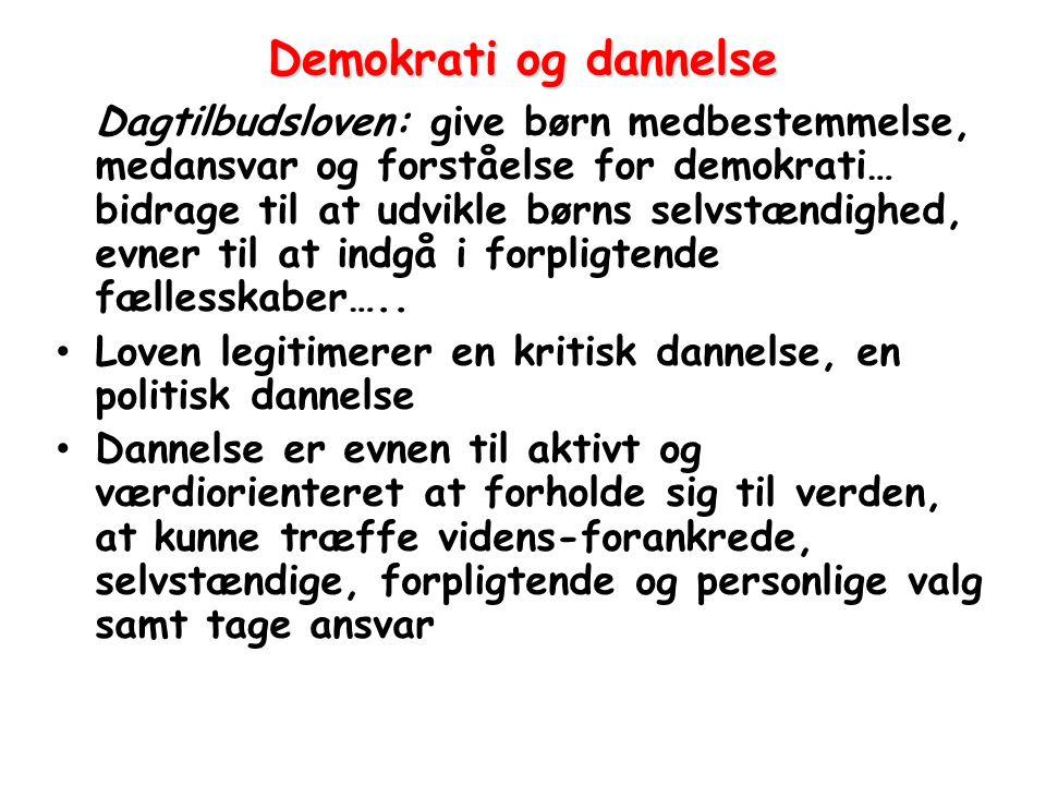 Demokrati og dannelse