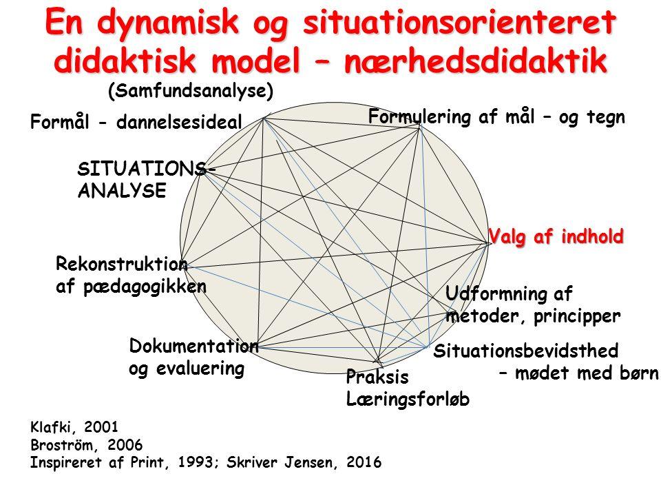 En dynamisk og situationsorienteret didaktisk model – nærhedsdidaktik