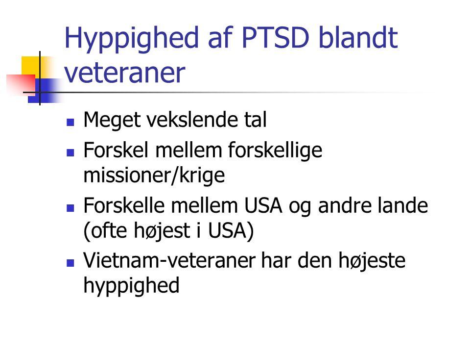 Hyppighed af PTSD blandt veteraner