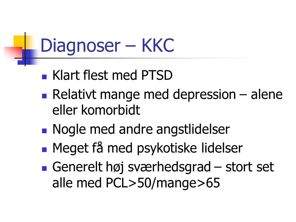 Diagnoser – KKC Klart flest med PTSD