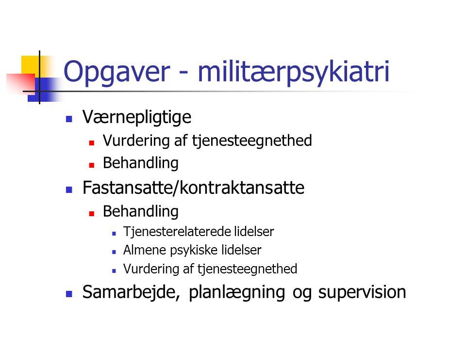 Opgaver - militærpsykiatri