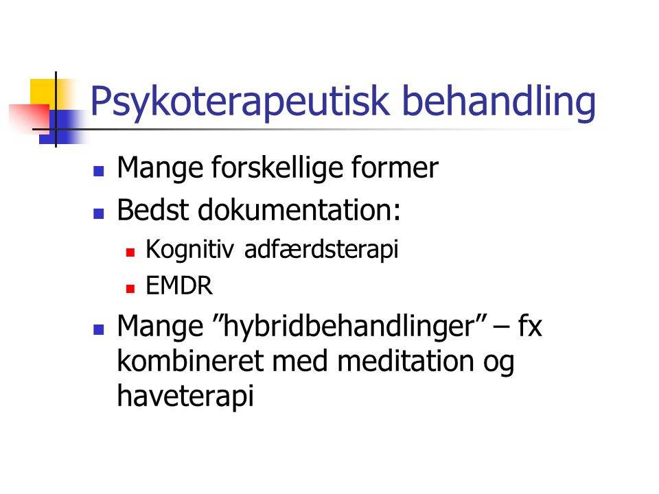 Psykoterapeutisk behandling