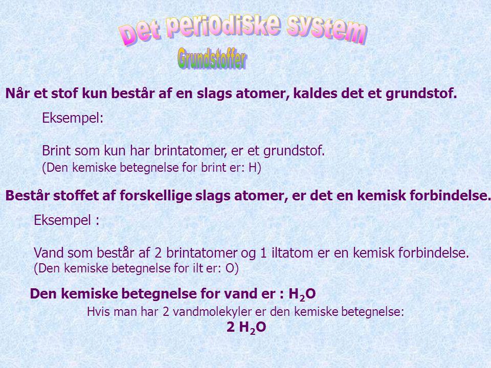 Hvis man har 2 vandmolekyler er den kemiske betegnelse: