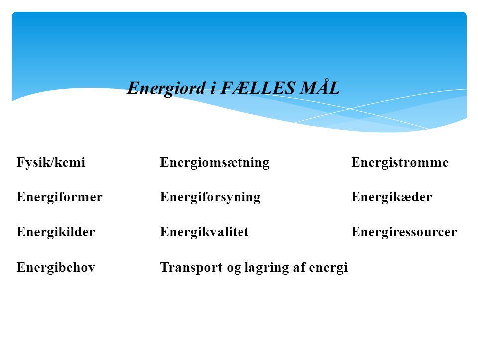Energiord i FÆLLES MÅL