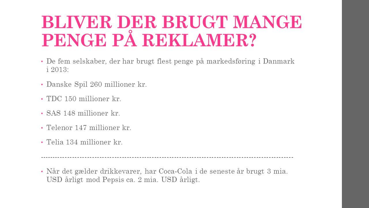BLIVER DER BRUGT MANGE PENGE PÅ REKLAMER