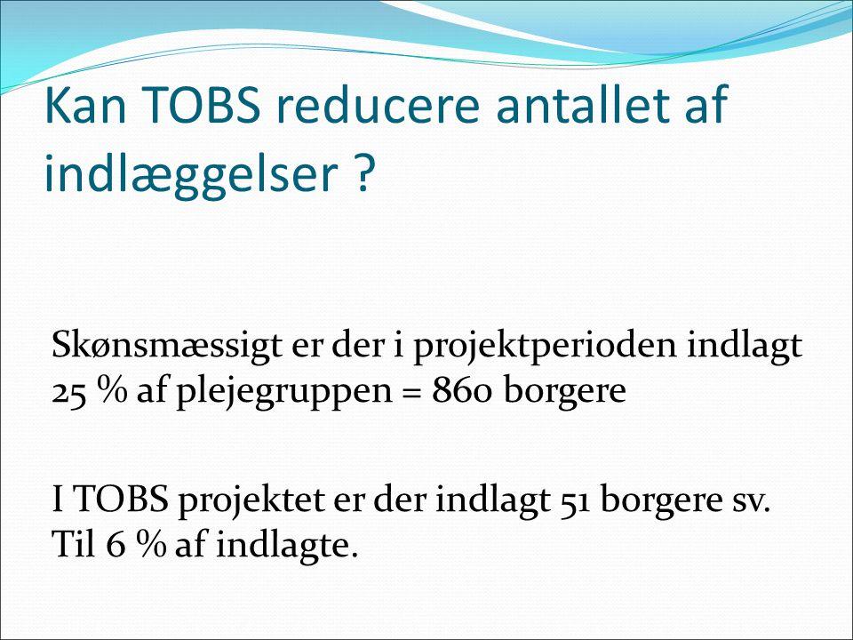 Kan TOBS reducere antallet af indlæggelser