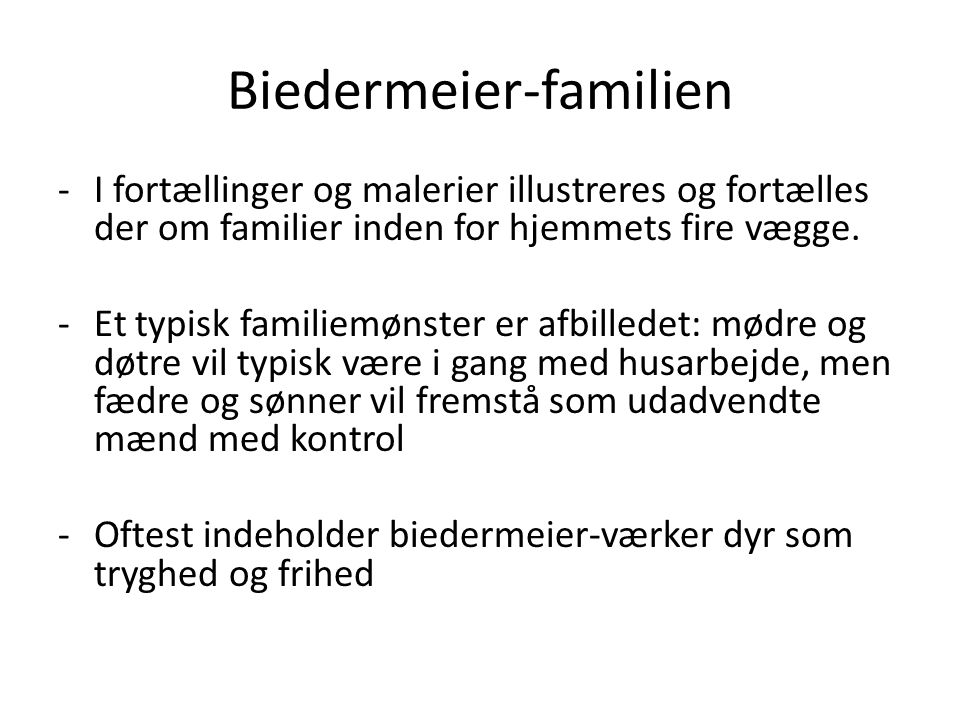 Biedermeier-familien