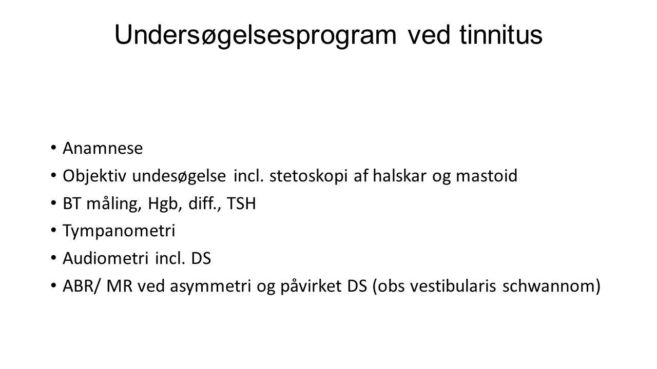 Undersøgelsesprogram ved tinnitus