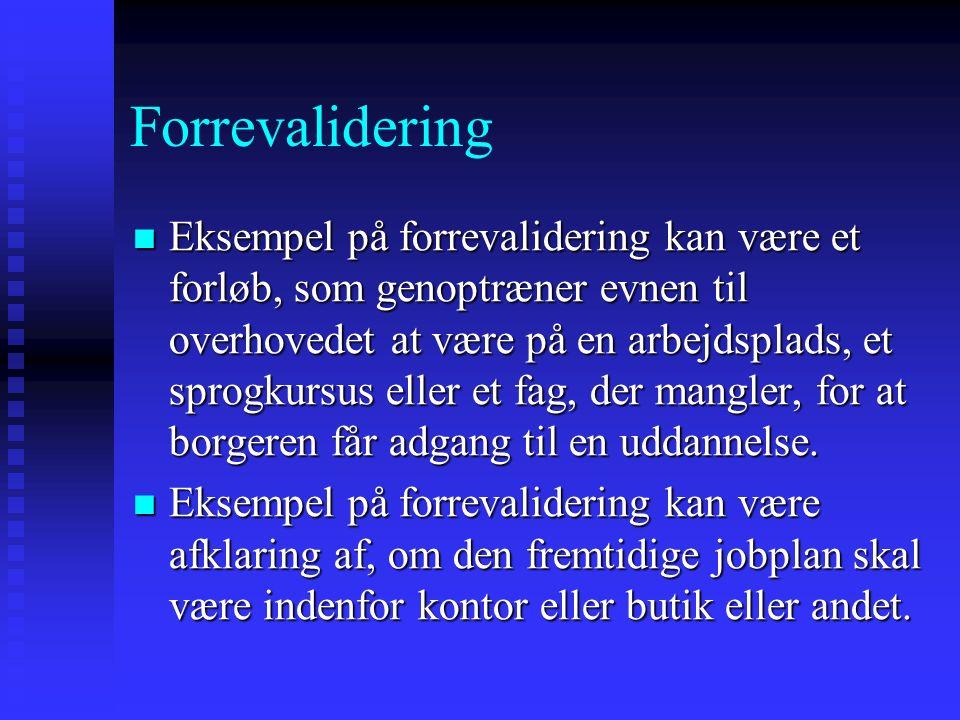 Forrevalidering