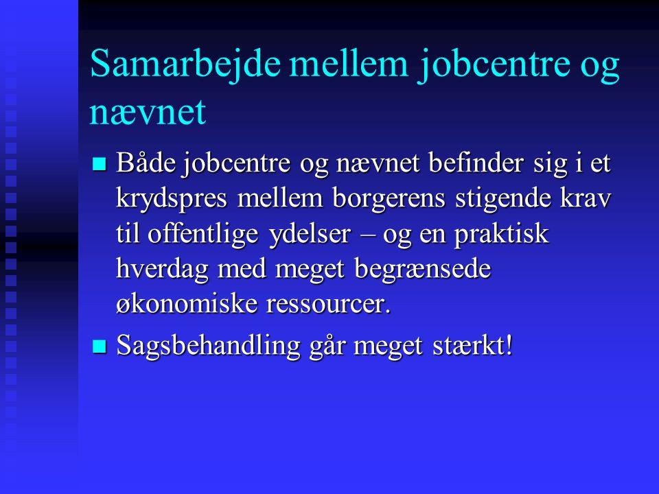 Samarbejde mellem jobcentre og nævnet