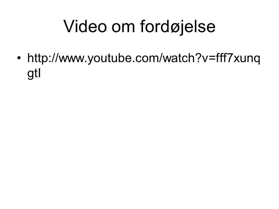 Video om fordøjelse http://www.youtube.com/watch v=fff7xunqgtI