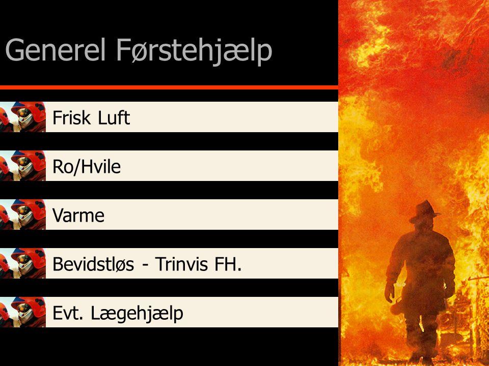 Generel Førstehjælp Frisk Luft Ro/Hvile Varme Bevidstløs - Trinvis FH.