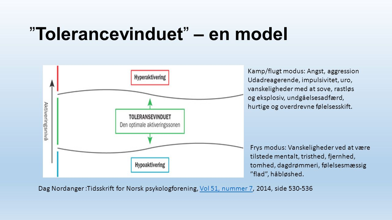 Tolerancevinduet – en model