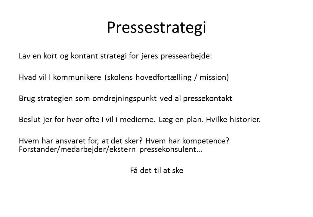 Pressestrategi