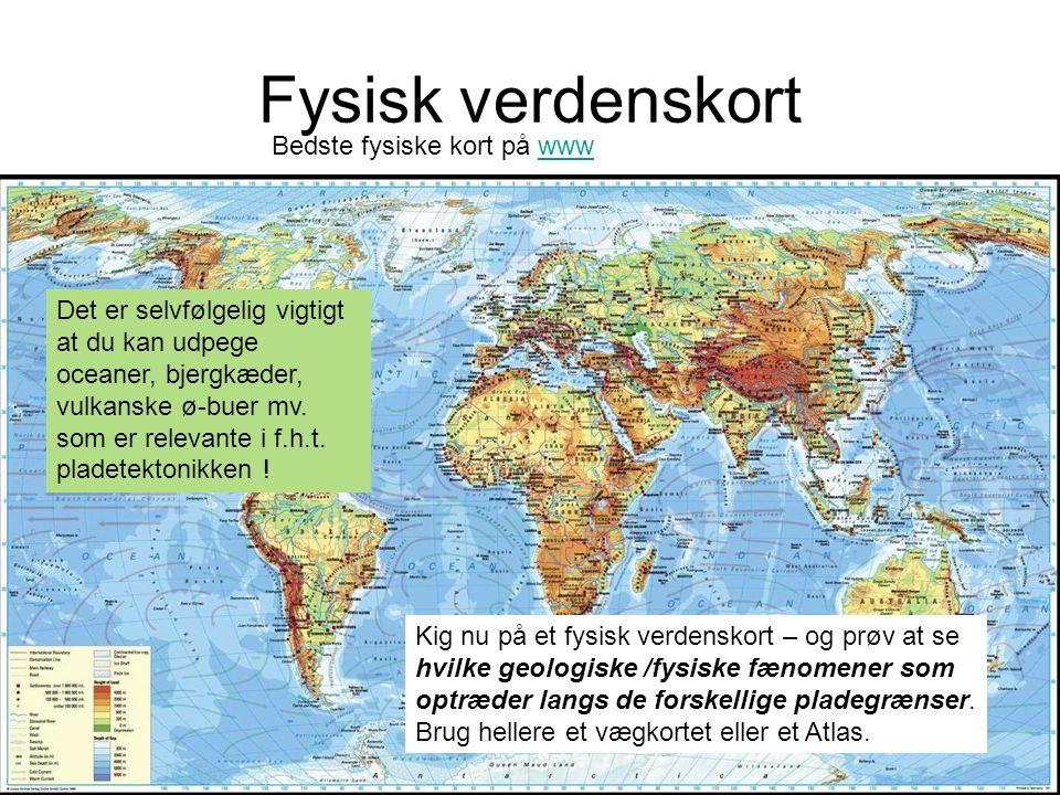 Fysisk verdenskort Bedste fysiske kort på www