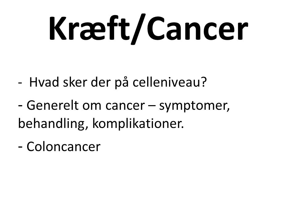 cancer symptomer