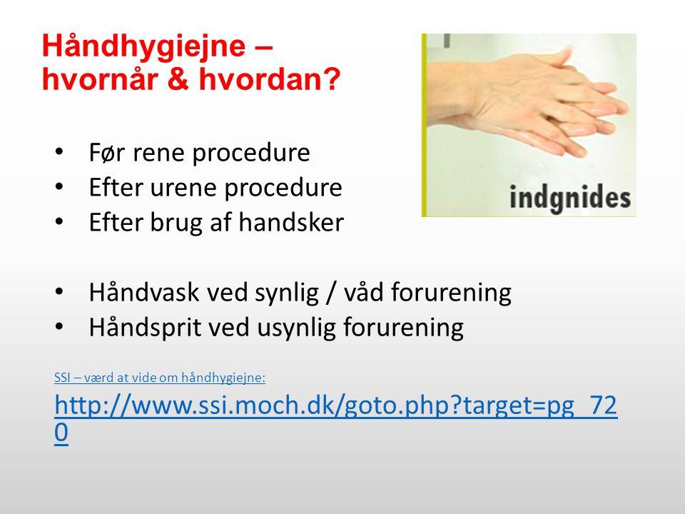 Håndhygiejne – hvornår & hvordan