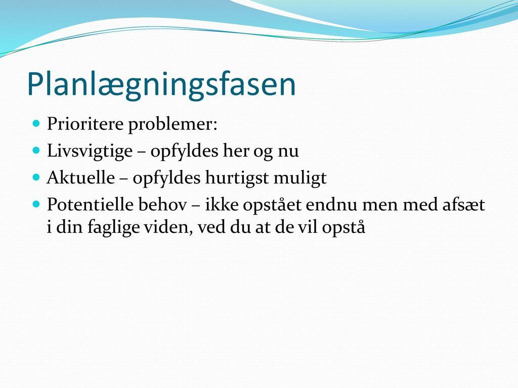 de 12 sygeplejefaglige problemområder