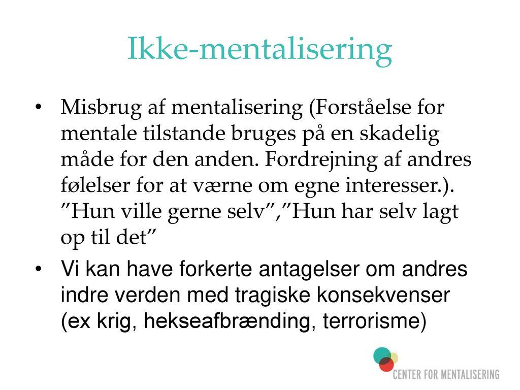 Ikke-mentalisering