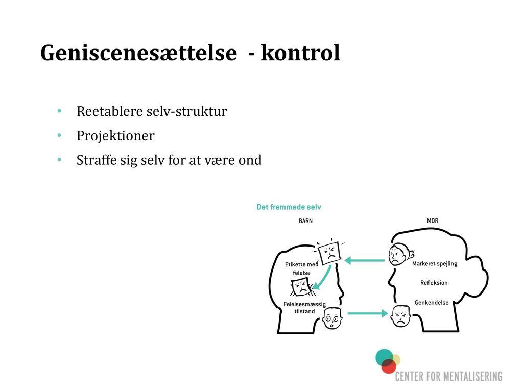 Geniscenesættelse - kontrol
