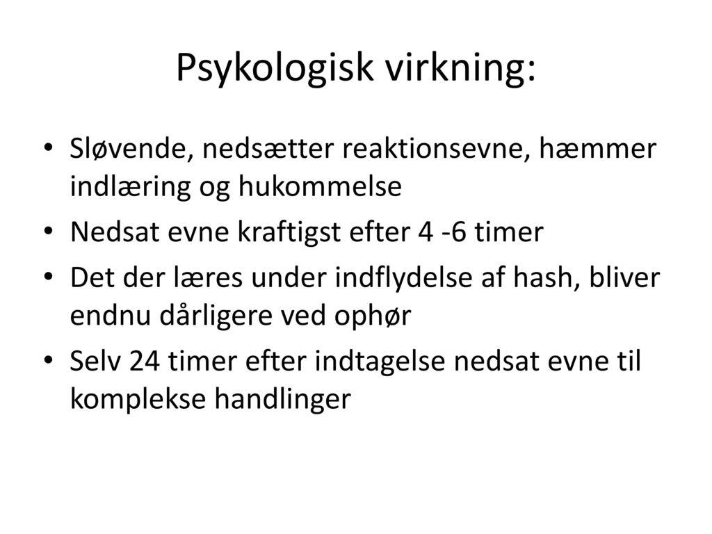 Psykologisk virkning: