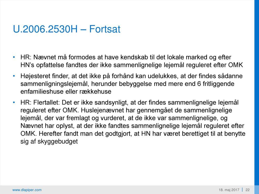 Domspraksis T:BB2016.131V. Beboelseslejligheder i Grenå: Fælles bad og toilet. HN nedsatte lejen på p.g.a. skyggebudget.