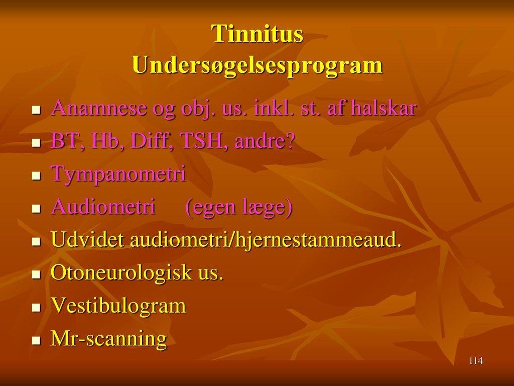 Tinnitus Undersøgelsesprogram