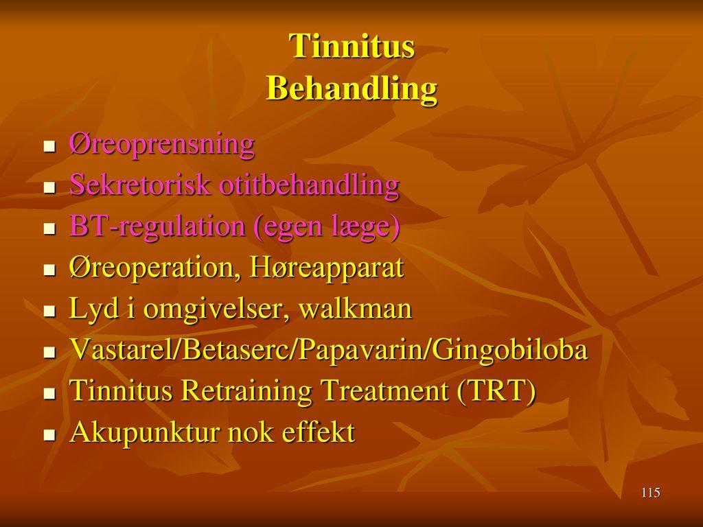 Tinnitus Behandling Øreoprensning Sekretorisk otitbehandling