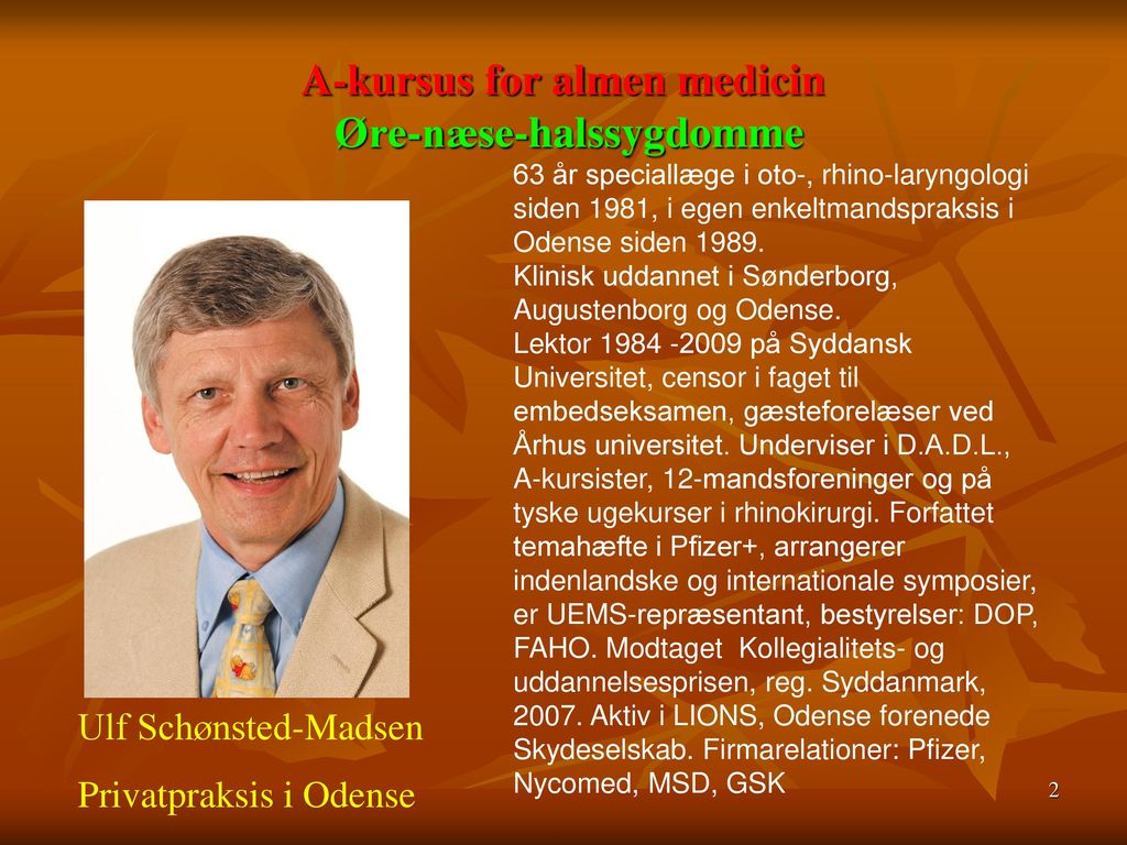 A-kursus for almen medicin Øre-næse-halssygdomme