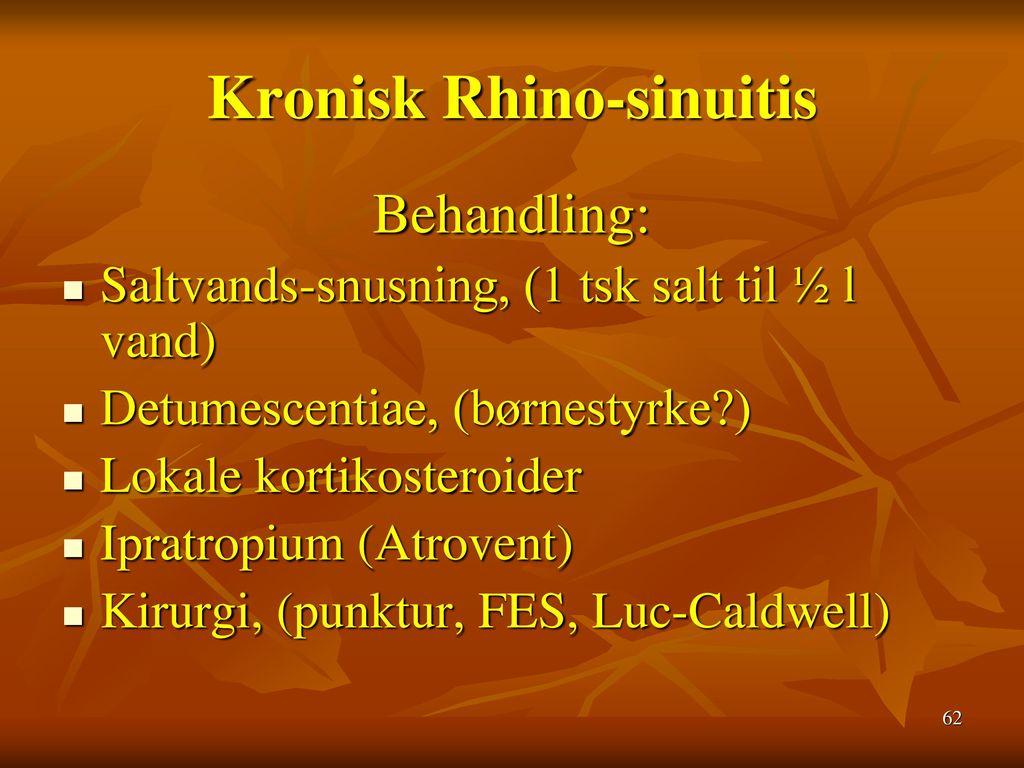 Kronisk Rhino-sinuitis