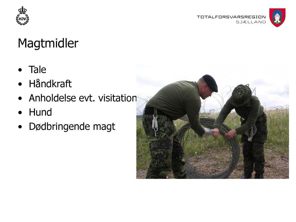 Bevogtning af militære objekter I FREDSTID - ppt download