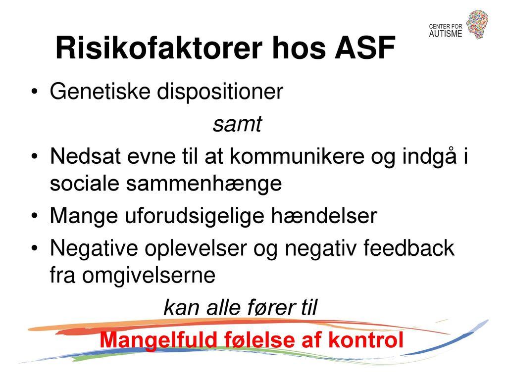 Risikofaktorer hos ASF