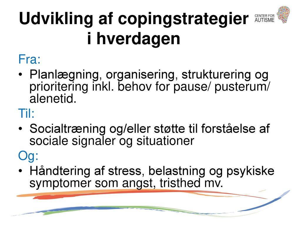 Udvikling af copingstrategier i hverdagen