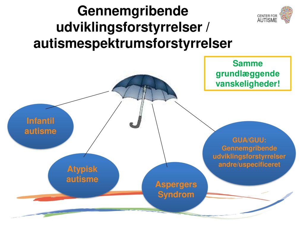 Gennemgribende udviklingsforstyrrelser / autismespektrumsforstyrrelser