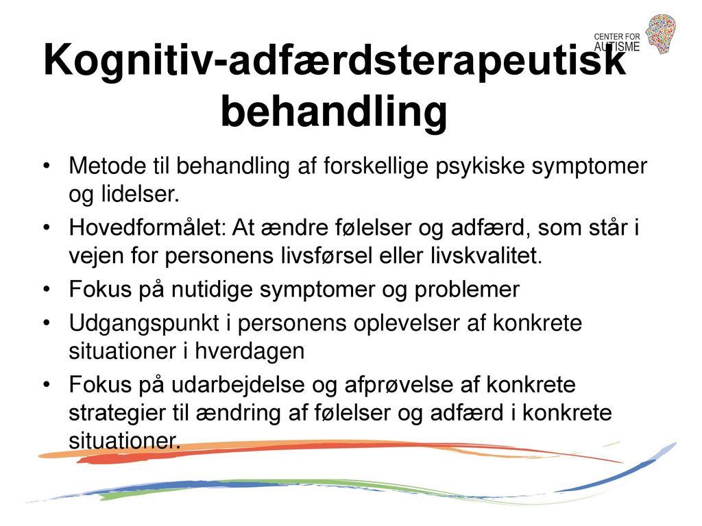 Kognitiv-adfærdsterapeutisk behandling