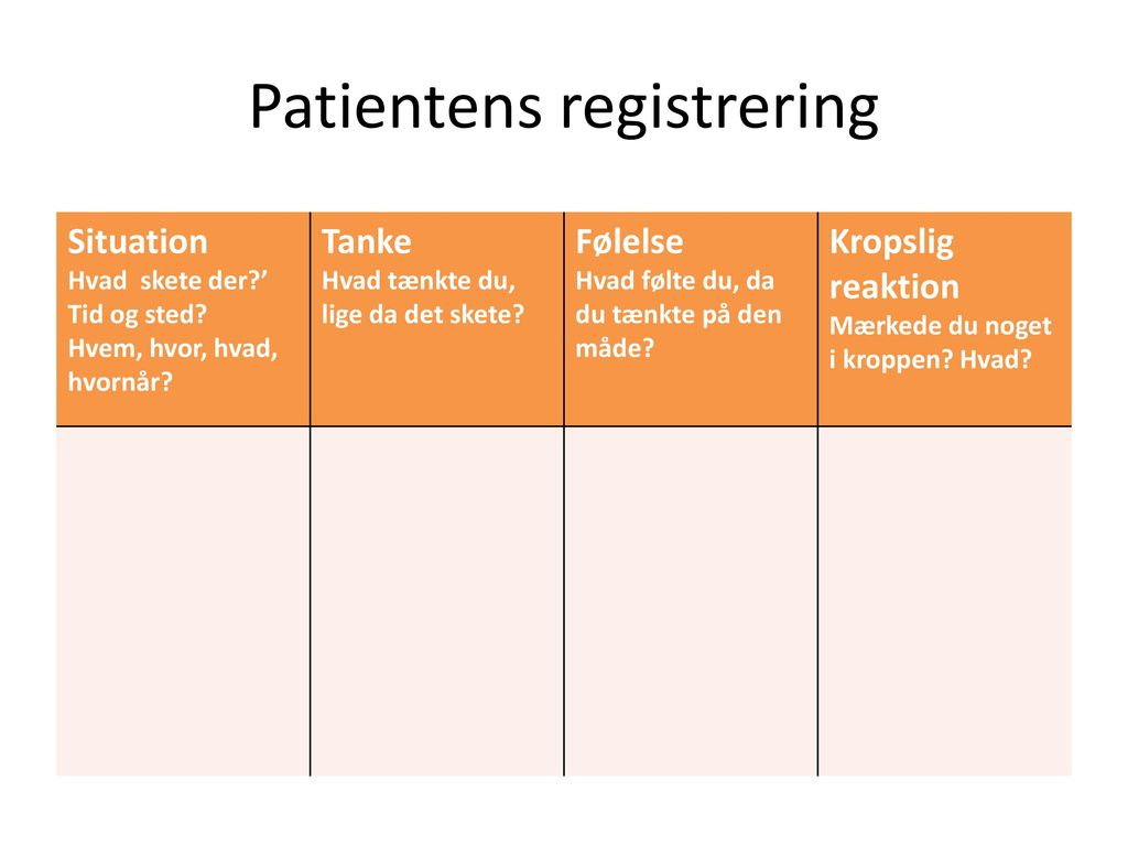 Patientens registrering