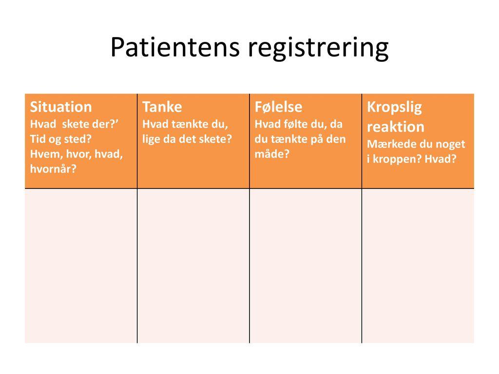 Patientens registrering