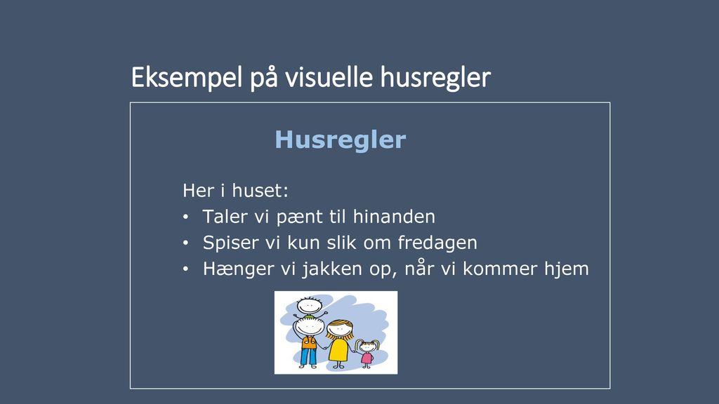 Eksempel på visuelle husregler